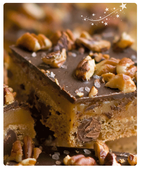 Chocolate Chocolate Pecan Caramel Bars