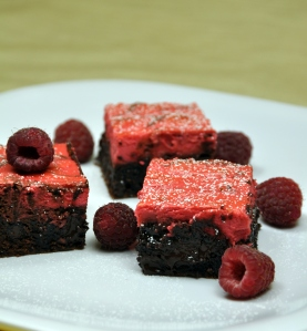 Raspberry Daiquiri Swirled Brownies