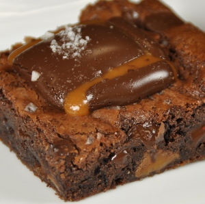 Truffle Fudge Caramel Brownies