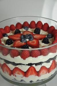 White Chocolate Summer Berry Trifle